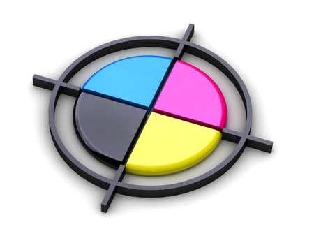 Het kan gebruikt worden als merk of een afbeelding op een polygraphic thema Stockfoto