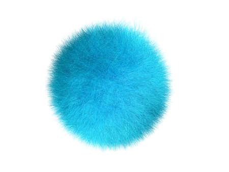 three-dimensional image of sphere covered by fur  hair