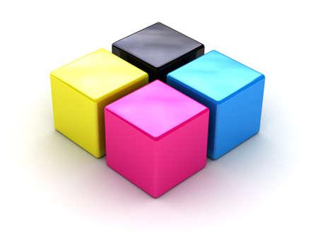 polygraphic: Cmyk symbol Stock Photo