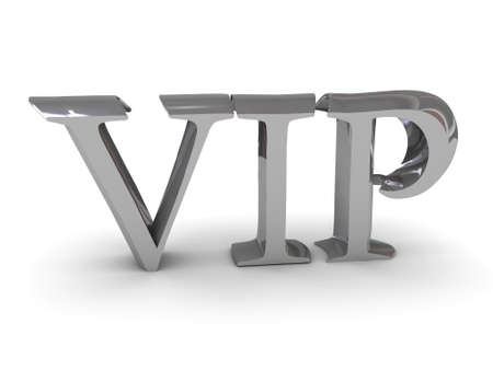 three-dementional letters  VIP , material - chromium Stock Photo - 13278117