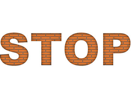 stop on wall  image can be used for printing or web  Stock Photo - 15067977