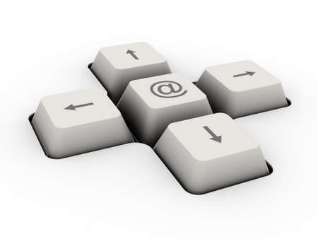 data entry: mail alias - keyboard button  image can be used for printing or web
