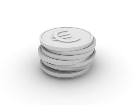 Pile of 3D coins  image can be used for printing or web