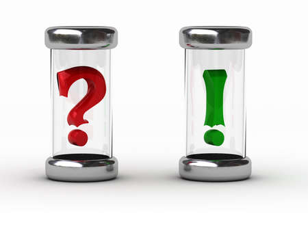 question - answer   Can be used for print or web Stock Photo - 15900752