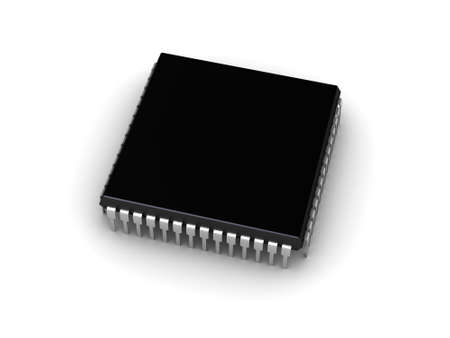 3D illustration of the computer chip  place for your text  illustration