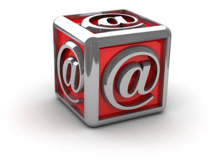 email alias in box  can be used as background for printing and web  Stock Photo - 16220076