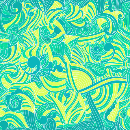 Seamless pattern with a lot of wave elements