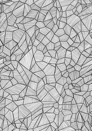 Tileable graphically handmade pattern