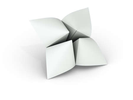 Blank paper fortune teller can be used as illustration for printing or web