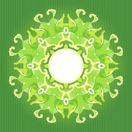 Vector mandala ornate with special place for your text  Vector