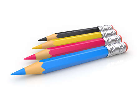 CMYK pencils  can be used for printing or web design