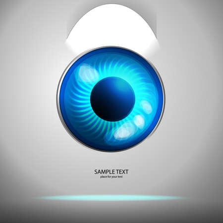 eye manager. Concept with place for your text Stock Vector - 22078644