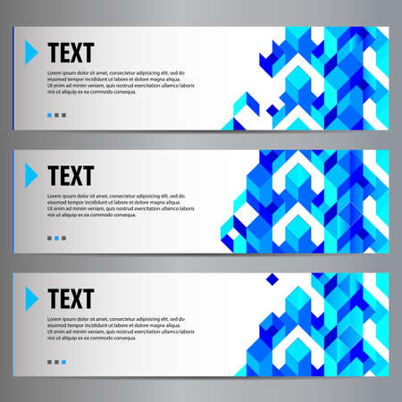 Vector banners with abstract composition and place for your text.