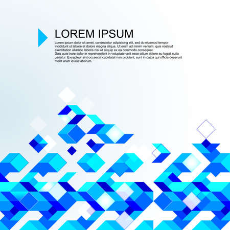 Abstract light blue mosaic background.  Vector
