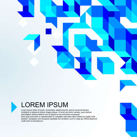 Abstract light blue mosaic background  Illustration