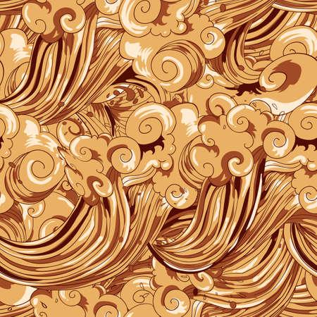 Seamless vector sweet coffee pattern Vector