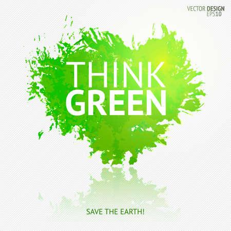 Eco friendly banner Save the earth design element. Vettoriali
