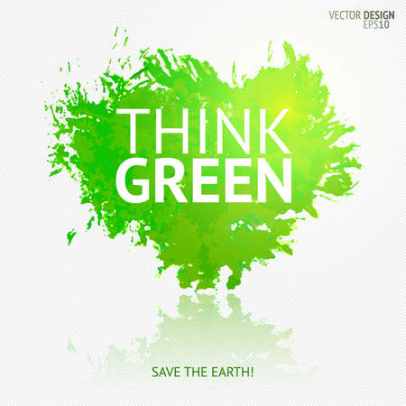 Eco friendly banner Save the earth design element. Illustration