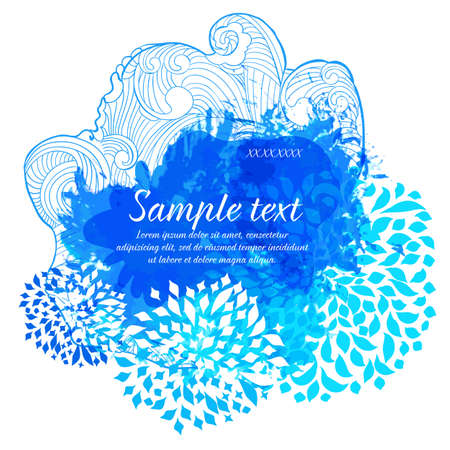 Abstract watercolor splash  Vector banner for text message 일러스트
