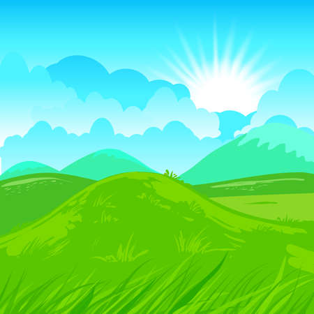 Rural vector illustration  Abstract farm background  Vector