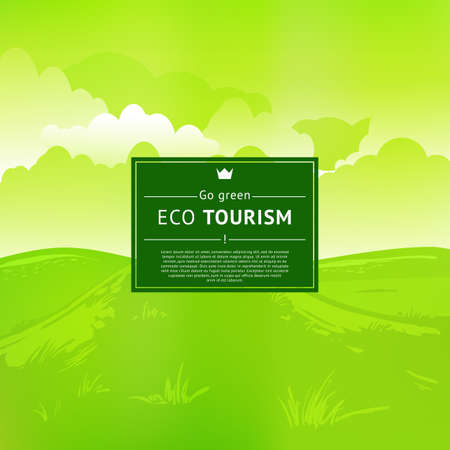Eco tourism design. Vector