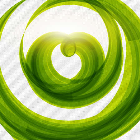 Green heart shape abstract background. Vector illustration. Eco friendly food design element.