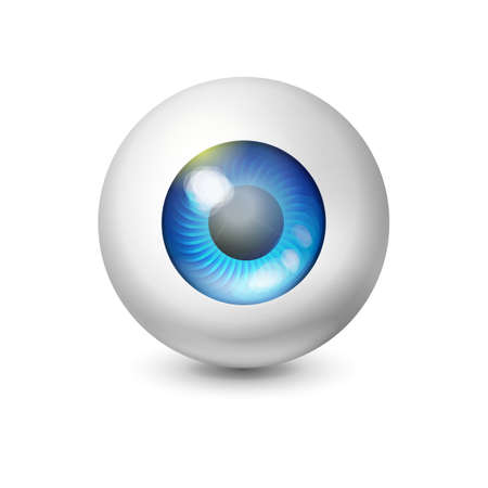 eye ball: Blue wathing eye ball. Abstrcat concept of technology, security and search. Design element.