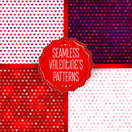 declaration of love: Seamless vector hearts pattern set. Colorful love illustration. Love you card design elements. Declaration of love. Illustration