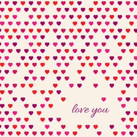 declaration of love: Seamless vector hearts pattern. Colorful love illustration. Love you card design elements. Declaration of love.