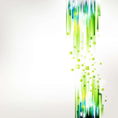 Abstract green technology lines. Linear connections. Vector and pixel concept. Modern summer ecology illustration.