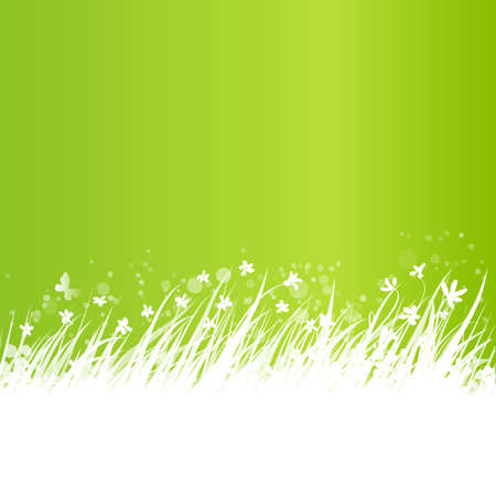 banner background: Abstract grass frame.