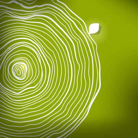 Natural wooden circles sketch .  Vettoriali