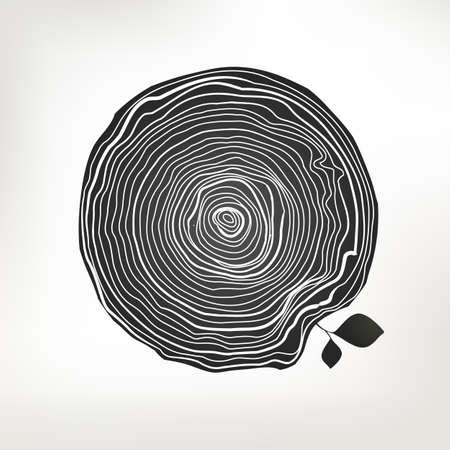 Natural wooden sketch .