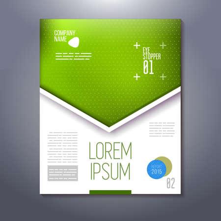 main idea: design of business marketing presentation.
