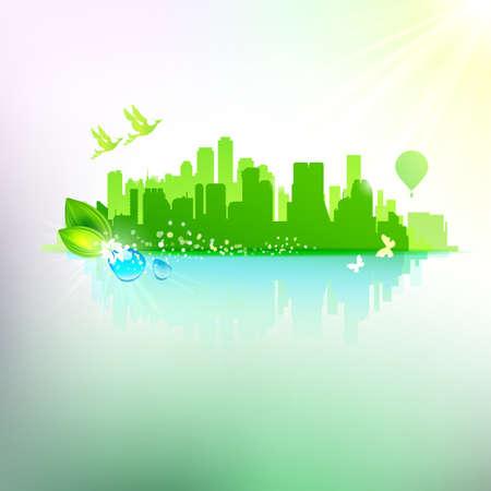 main idea: Eco friendly city concept Abstract
