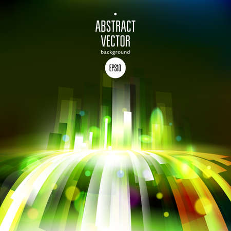 Abstract growing energy wave. Vector dark background. Futuristic lines. Technology illustration.
