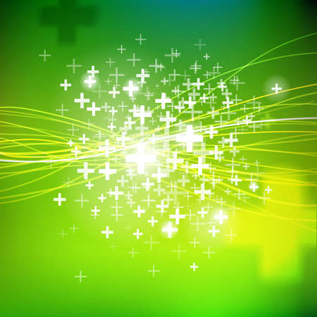 symol: Vector positive sign  background. Season offer green illustration. Business offer elements.