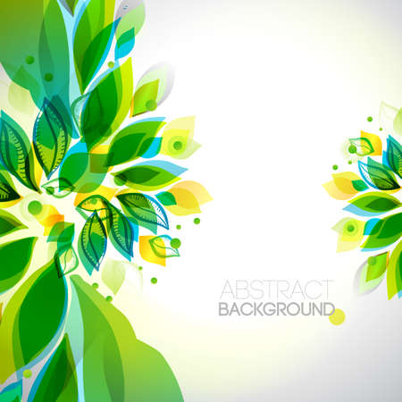 Summer and spring decorative elements. Illustration
