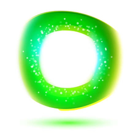 corporative: Modern corporative oxygen symbol. Fresh colors, abstract background. Abstract blurred illustration. Free therm website and banner design elements. Illustration