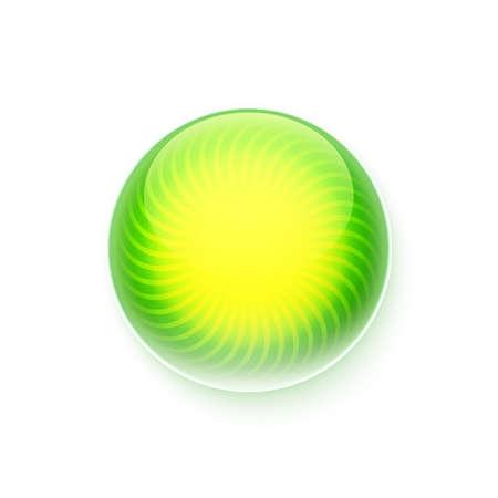 iluminacion led: Bot�n verde c�rculo. Vector iluminaci�n ilustraci�n verano.
