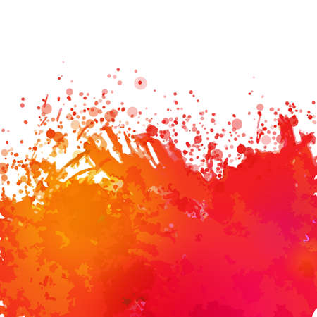 splash background: Vector watercolor drawing abstract background with splashes Illustration