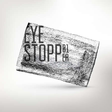 stopper: Vector abstractpencil drawing eye stopper. Creative textured card. Hand drawing art. Illustration
