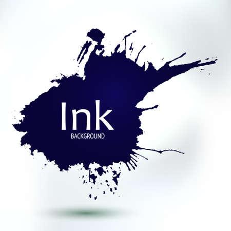 hand made: Vector mano abstracta salpicaduras de pintura dibujo. Elemento decorativo creativo. Fondo de la tinta por bandera y p�ginas. Emblema gr�fico para proyectos empresariales hechas a mano. Vectores