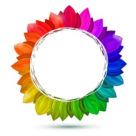 color swatches: Multicolored flower, vector concept. Decorative color scheme. All swatches palette. Illustration
