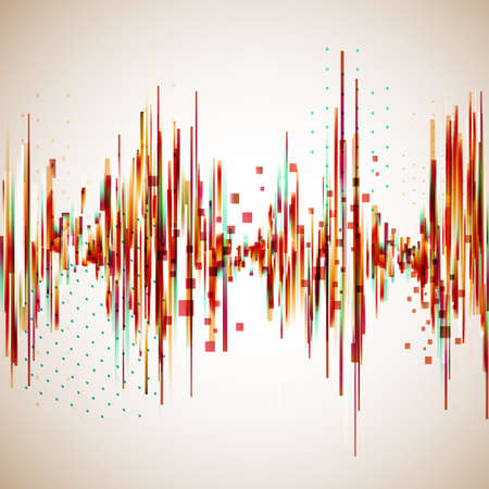 Vintage style equalizer. Vector background for music themes. Imagens - 39085956