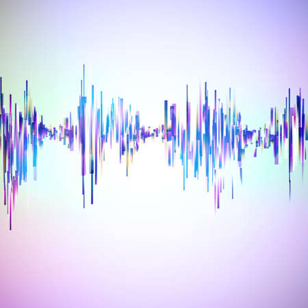 vibrations: Vintage style technology equalizer illustration. Vector background for music themes.
