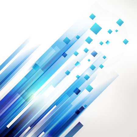 Abstract blue technology modern geometric spot. Linear motion symbol background. Modern design elements.