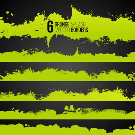 Abstract shapes, vector grunge drawn splashes collection. Grunge brushes. Vintage design elements. Grunge texture. Acid color.