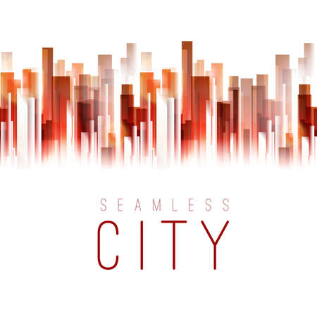 city life: Seamless city tape background