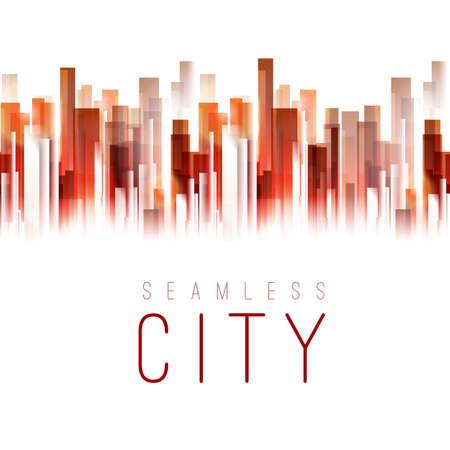 Seamless city tape background